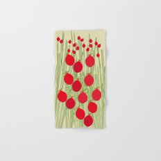 Rose Hips and Stems Hand & Bath Towel