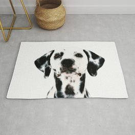 Dalmatian dog watercolour Rug