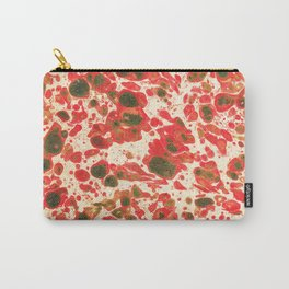 Colorful Christmas Holiday Marbling Carry-All Pouch