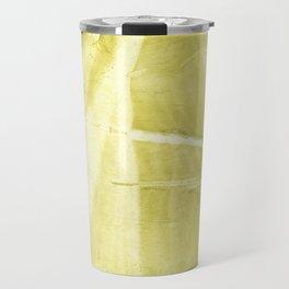 Yellow green abstract Travel Mug