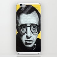 woody allen iPhone & iPod Skins featuring Woody Allen by Black Neon