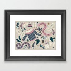 Winter Woolies Framed Art Print