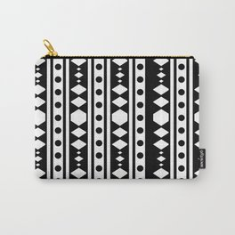 White tribal pattern Carry-All Pouch