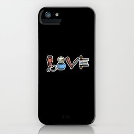 Vintage Barber Love design Hairdresser Gift iPhone Case
