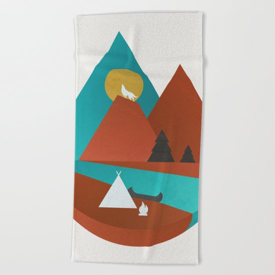 Tipi by the River Beach Towel