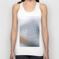 architect Tank Tops featuring Minimalist architect drawing by Solar Designs