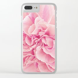 Pale Pink Carnations 2 Clear iPhone Case