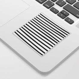 Black and White Hand Drawn Stripes Sticker