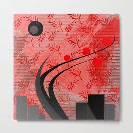The apple tree abstract geometric digital painting Metal Print