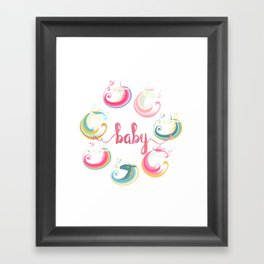 Unicorns and Baby Framed Art Print