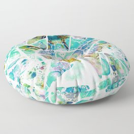 Marbled Earth Blue Floor Pillow