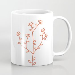 Fantasy Flower Red Coffee Mug