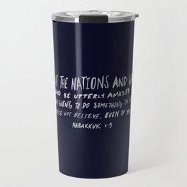 Habakkuk 1:5 x Navy Travel Mug