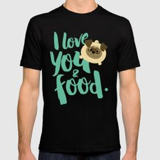 I love you Mens Fitted Tee MEDIUM Black