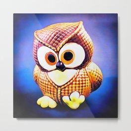 Ceramic Owl Metal Print