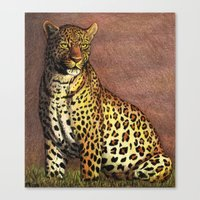 panther Canvas Prints featuring Panther by Savousepate