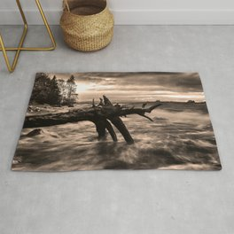 Storm and dark clouds Rug