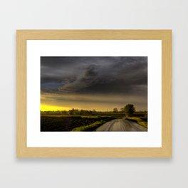 Storm Before Sunset Framed Art Print