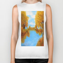 Autumn Reflections Biker Tank