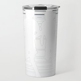 Rival Schools Logo White Travel Mug