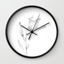A flower of flour Wall Clock
