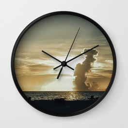 Sunset Beachy Vibe Wall Clock