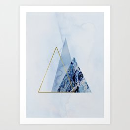 Blue Icebergs On An Arctic Morning Art Print