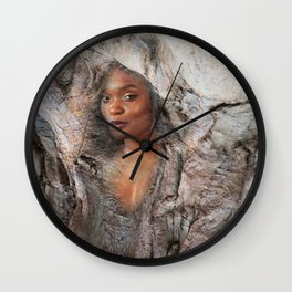 Wood Nymph Wall Clock