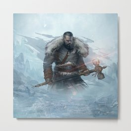 Yarn the Hero Official Art from Nordic Warriors Metal Print