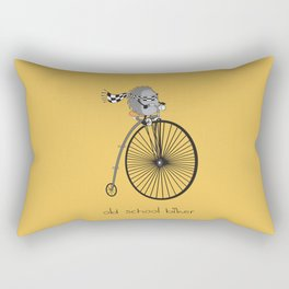 old school biker Rectangular Pillow