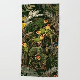 Floral and Birds XXXVI Beach Towel