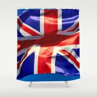 england Shower Curtains featuring England Flag by Fine2art