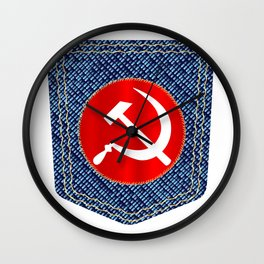Russian Denim Pocket Wall Clock