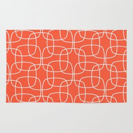 Square Pattern Flame Rug