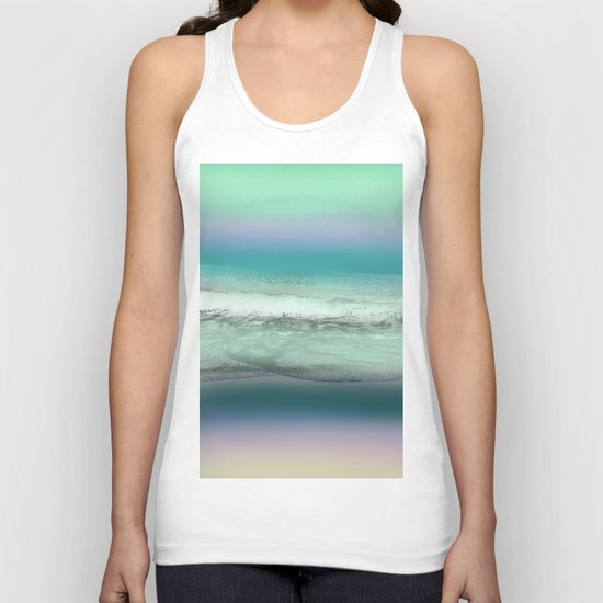 Twilight Sea in Shades of Green and Lavender Unisex Tank Top