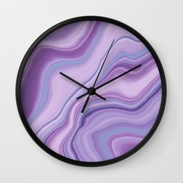 Liquid Unicorn Agate Dream #1 #pastel #decor #art #society6 Wall Clock
