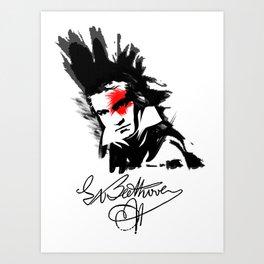 Beethoven Punk Art Print