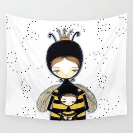 Queen Bee Motherhood Wall Tapestry