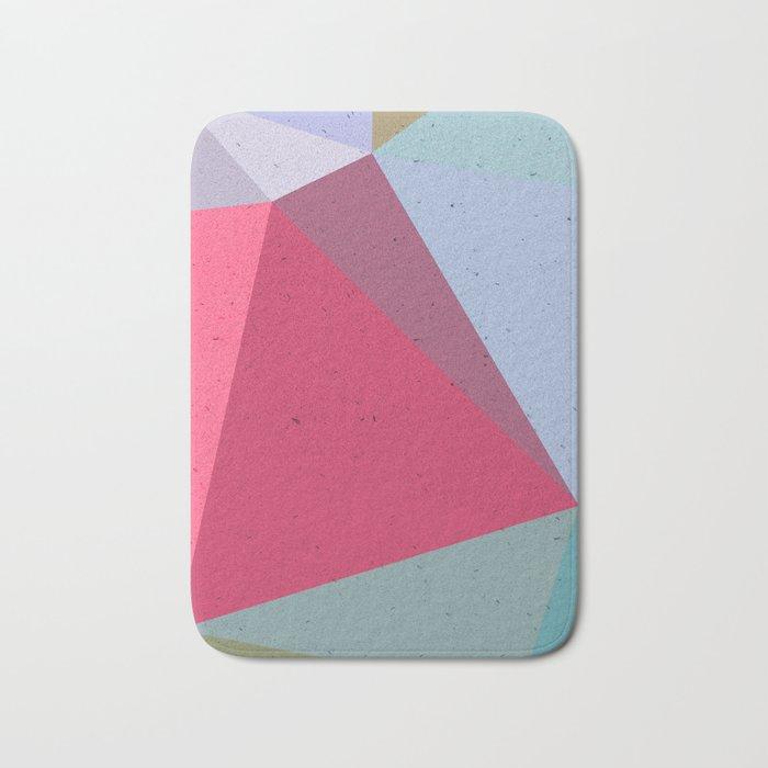 Colourful geometry Bath Mat