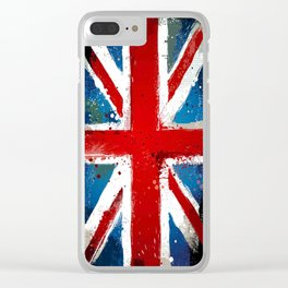 Grungy UK flag Clear iPhone Case