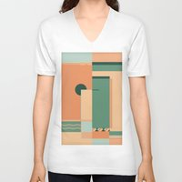 deco V-neck T-shirts featuring Deco by ktparkinson