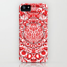 Illusionary Daisy (Red) iPhone Case