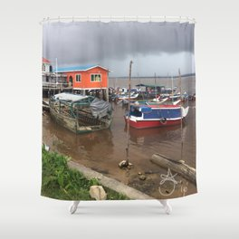 Murky Pier in South America Shower Curtain