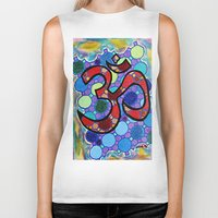 om Biker Tanks featuring OM by Art By Carob