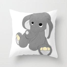 Stuffed Elephant Throw Pillow