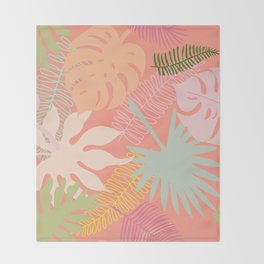 Melon Palms Throw Blanket