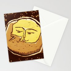 Conjunction moon and planet Stationery Cards