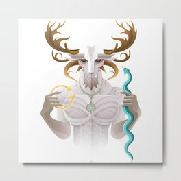 Cernunnos / Animal Gods Metal Print