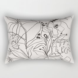 Charcoal Tropics Rectangular Pillow