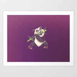 Panda and Bamboo Art Print